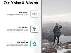 Our Vision And Mission Ppt PowerPoint Presentation Inspiration Outline