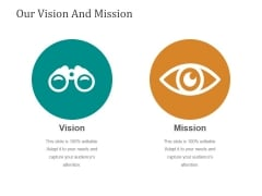 Our Vision And Mission Ppt PowerPoint Presentation Themes