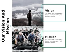 Our Vision And Mission Ppt PowerPoint Presentation Visual Aids Styles