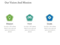 Our Vision And Mission Template 2 Ppt PowerPoint Presentation Ideas Inspiration