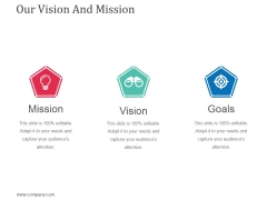 Our Vision And Mission Template 2 Ppt Powerpoint Presentation Inspiration Slideshow