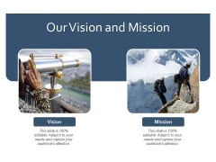 Our Vision And Mission Yearly Operating Plan Ppt PowerPoint Presentation Visual Aids Professional