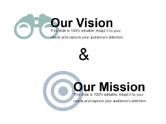 Our Vision And Our Mission Ppt PowerPoint Presentation Show Example