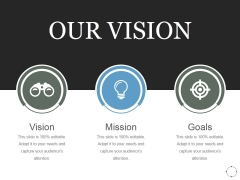 Our Vision Ppt PowerPoint Presentation Design Templates