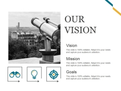 Our Vision Ppt PowerPoint Presentation File Diagrams