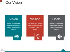 Our Vision Ppt PowerPoint Presentation Icon Background Designs