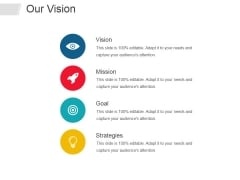 Our Vision Ppt PowerPoint Presentation Infographics Infographics