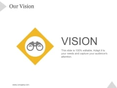 Our Vision Ppt PowerPoint Presentation Information