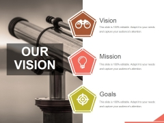 Our Vision Ppt PowerPoint Presentation Layouts Backgrounds