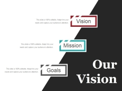 Our Vision Ppt PowerPoint Presentation Outline Clipart