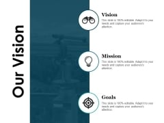 Our Vision Ppt PowerPoint Presentation Pictures Ideas