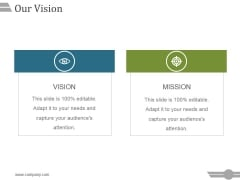 Our Vision Ppt PowerPoint Presentation Show