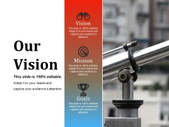 Our Vision Ppt PowerPoint Presentation Show Visuals