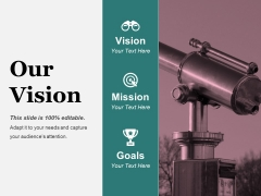 Our Vision Ppt PowerPoint Presentation Slides Designs