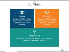 Our Vision Ppt PowerPoint Presentation Styles Information