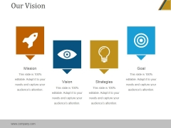 Our Vision Ppt PowerPoint Presentation Template