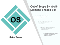 Out Of Scope Symbol In Diamond Shaped Box Ppt PowerPoint Presentation Summary Structure