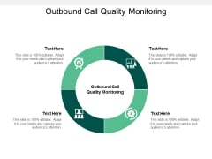 Outbound Call Quality Monitoring Ppt PowerPoint Presentation Pictures Skills Cpb