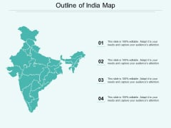 Outline Of India Map Ppt Powerpoint Presentation Infographic Template Infographic Template