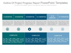 Outline Of Project Progress Report Powerpoint Templates