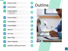 Outline Project Timeline Ppt PowerPoint Presentation Model