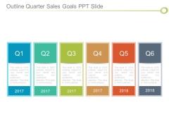 Outline Quarter Sales Goals Ppt Slide