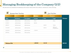 Outsource Bookkeeping Service Manage Financial Transactions Managing Bookkeeping Company Diagrams PDF