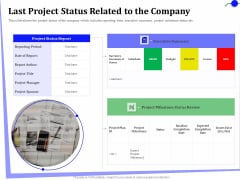 Outsourcing Of Finance And Accounting Processes Last Project Status Related To The Company Themes PDF