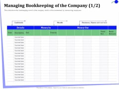 Outsourcing Of Finance And Accounting Processes Managing Bookkeeping Of The Company Month Clipart PDF
