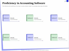 Outsourcing Of Finance And Accounting Processes Proficiency In Accounting Software Brochure PDF