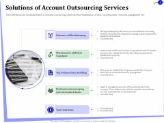 Outsourcing Of Finance And Accounting Processes Solutions Of Account Outsourcing Services Template PDF