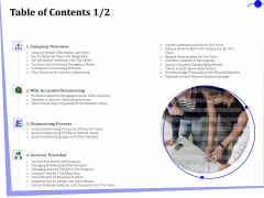Outsourcing Of Finance And Accounting Processes Table Of Contents Accounts Portrait PDF