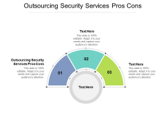 Outsourcing Security Services Pros Cons Ppt PowerPoint Presentation Infographic Template Objects Cpb
