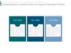 Outstanding And Completed Actions List Diagram Presentation Portfolio