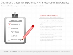 Outstanding Customer Experience Ppt Presentation Backgrounds