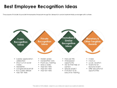 Outstanding Employee Best Employee Recognition Ideas Ppt File Format Ideas PDF