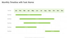 Outstanding Employee Monthly Timeline With Task Name Ppt Summary Smartart PDF