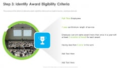 Outstanding Employee Step 3 Identify Award Eligibility Criteria Ppt Gallery Elements PDF