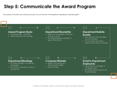 Outstanding Employee Step 5 Communicate The Award Program Topics PDF