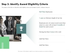Outstanding Performer Workplace Step 3 Identify Award Eligibility Criteria Icons PDF