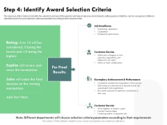 Outstanding Performer Workplace Step 4 Identify Award Selection Criteria Icons PDF