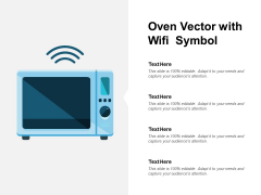 Oven Vector With Wifi Symbol Ppt PowerPoint Presentation Pictures Inspiration