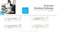 Overcome Branding Challenges Ppt PowerPoint Presentation Pictures Example File PDF