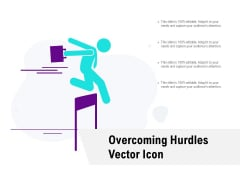 Overcoming Hurdles Vector Icon Ppt PowerPoint Presentation Styles Good
