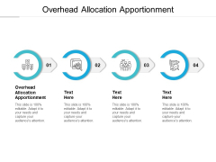 Overhead Allocation Apportionment Ppt PowerPoint Presentation Infographics Graphics Cpb