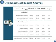 Overhead Cost Budget Analysis Ppt PowerPoint Presentation Portfolio Elements
