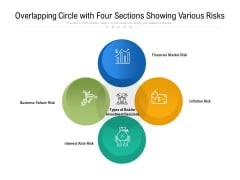 Overlapping Circle With Four Sections Showing Various Risks Ppt PowerPoint Presentation Gallery Structure PDF