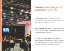 Overview Of AV Design And Installation Services Ppt PowerPoint Presentation Infographic Template Clipart