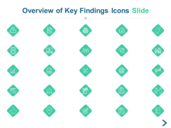 Overview Of Key Findings Icons Slide Ppt PowerPoint Presentation Layouts Infographic Template