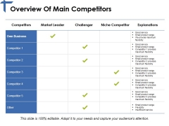 Overview Of Main Competitors Ppt PowerPoint Presentation Summary Example File